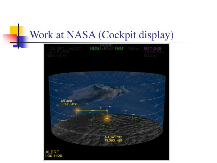 Work at NASA (Cockpit display)