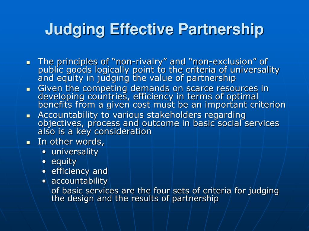Judging Effective Partnership