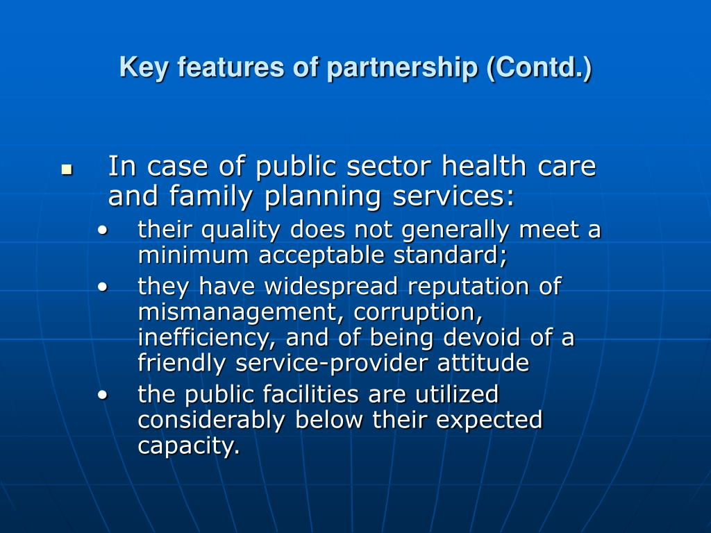 Key features of partnership (Contd.)