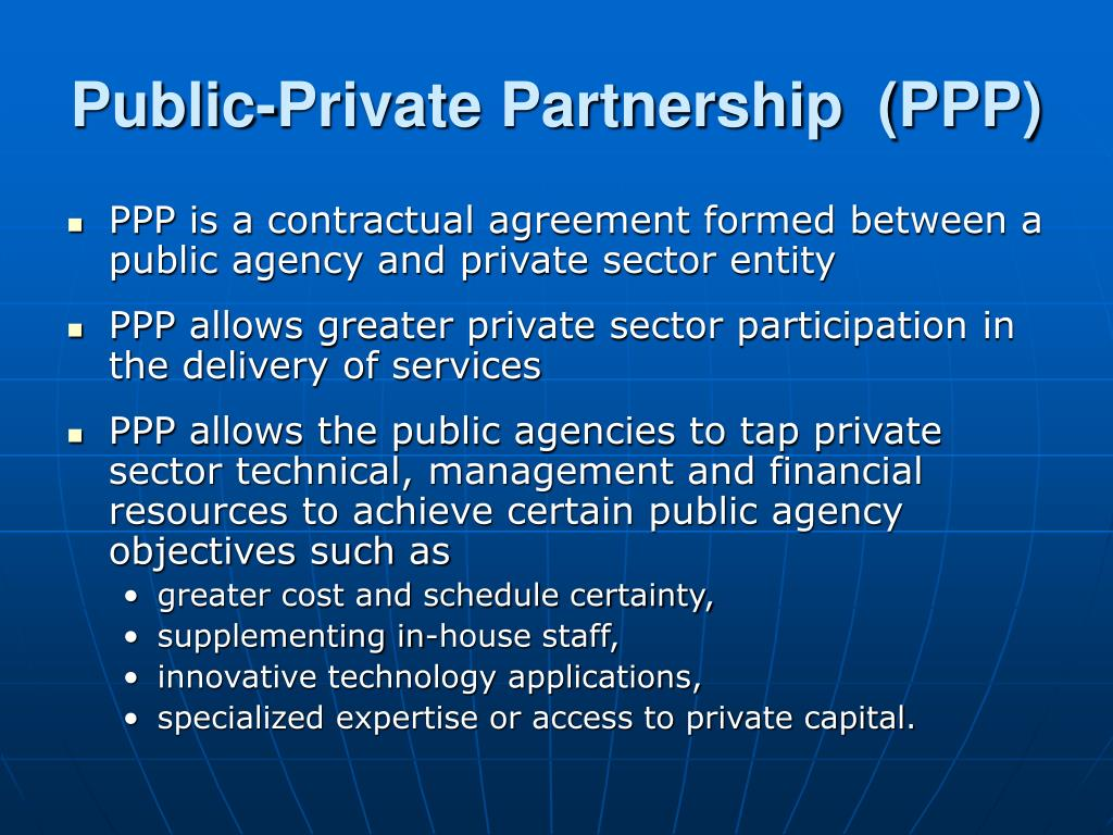 Public-Private Partnership  (PPP)