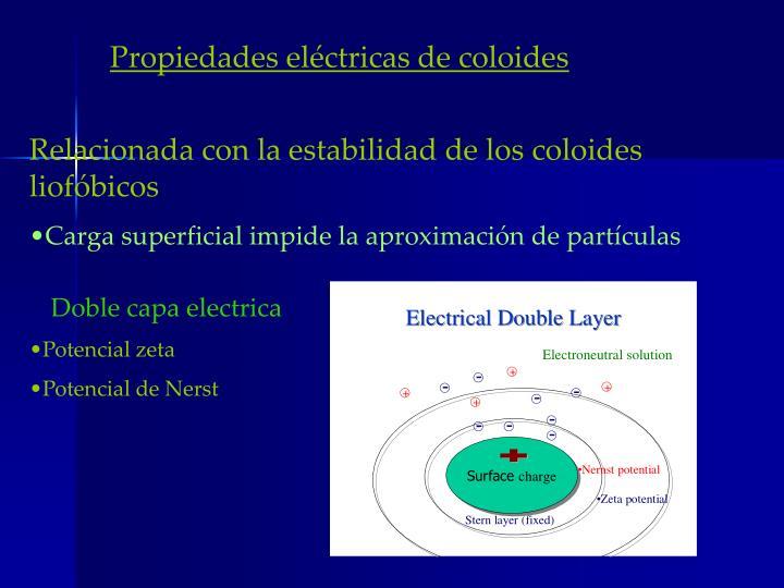 Propiedades eléctricas de coloides