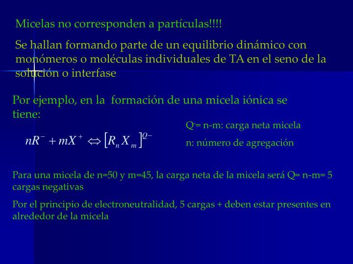Micelas no corresponden a partículas!!!!