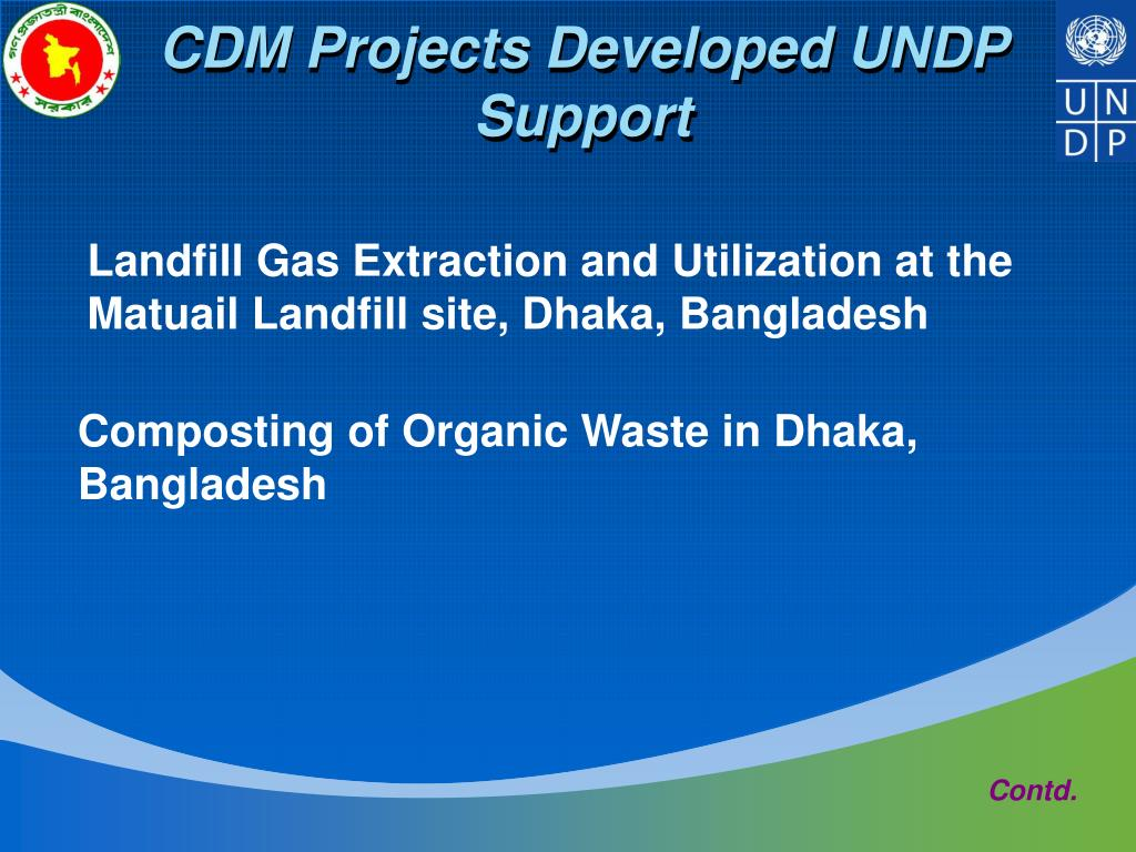 CDM Projects Developed UNDP Support