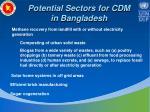potential sectors for cdm in bangladesh