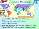 regions monitored