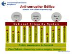 anti corruption edifice adapted from www transparency org