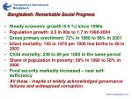 bangladesh remarkable social progress