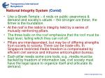 national integrity system contd