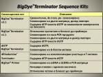 bigdye terminator sequence kits