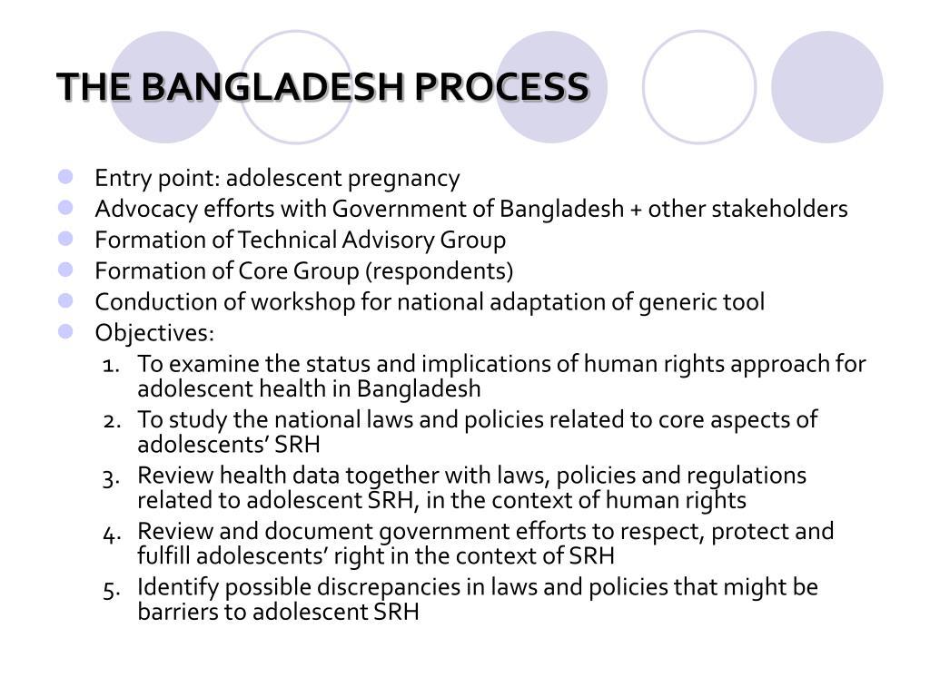 THE BANGLADESH PROCESS