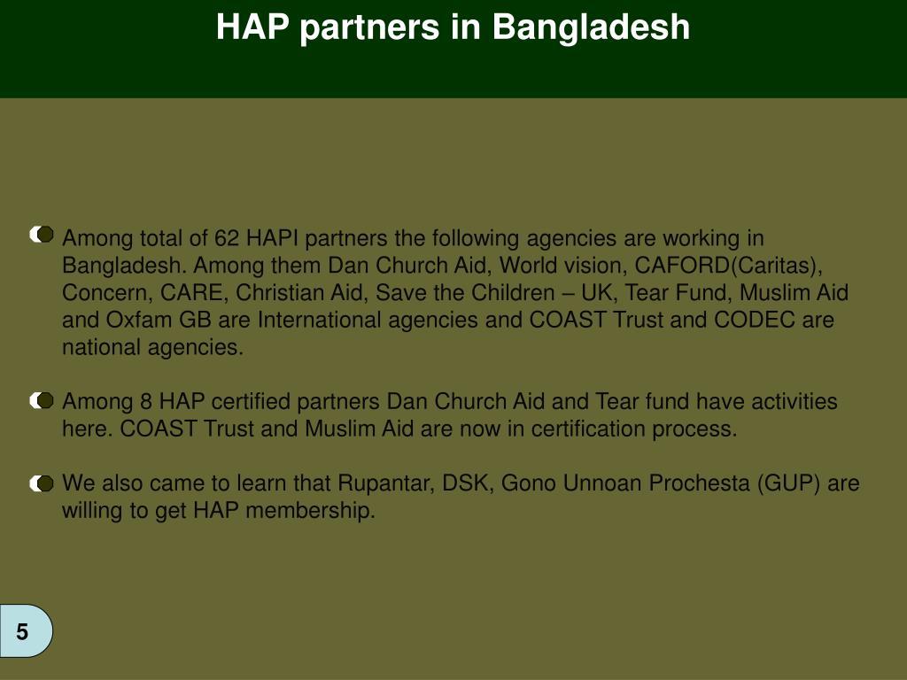 HAP partners in Bangladesh