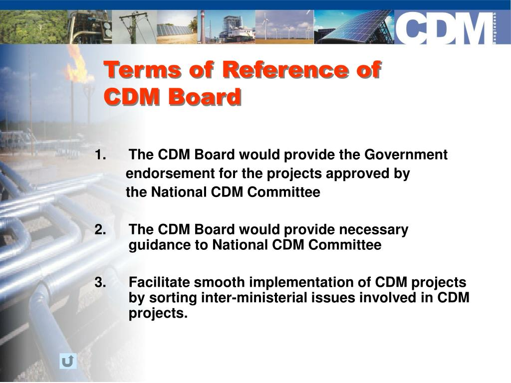 Terms of Reference of CDM Board
