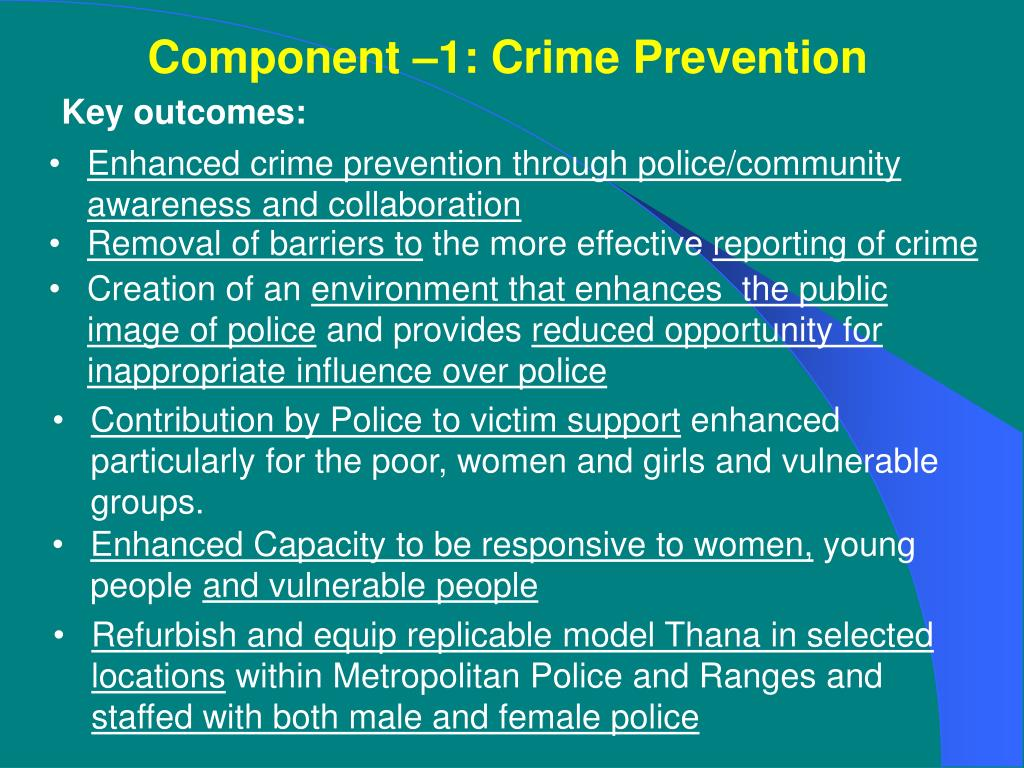 Component –1: Crime Prevention