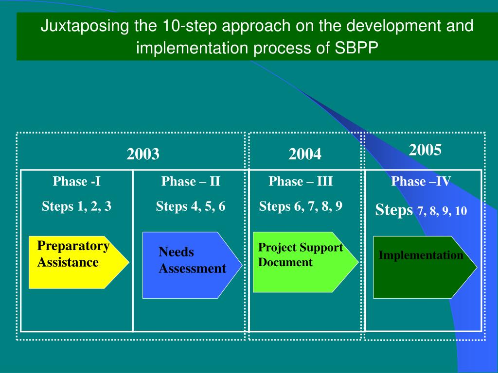 Juxtaposing the 10-step approach on the development and implementation process of SBPP