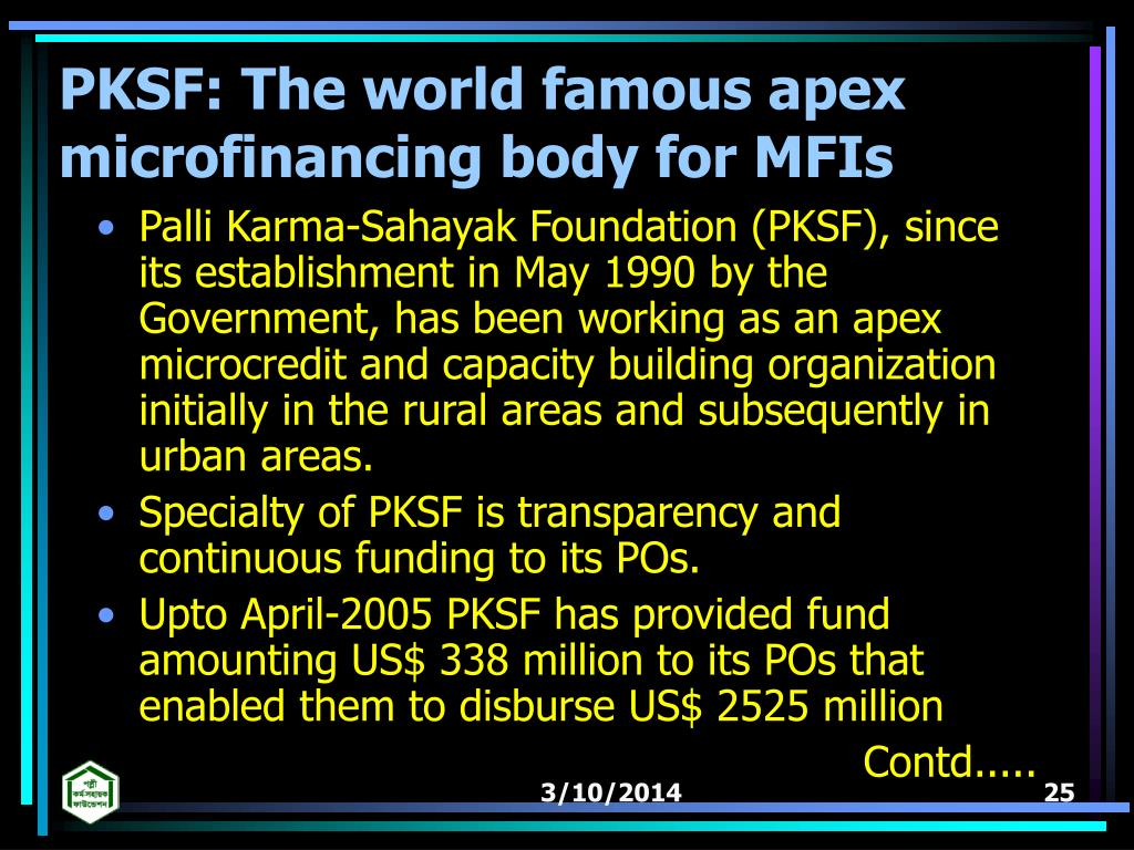 PKSF: The world famous apex microfinancing body for MFIs