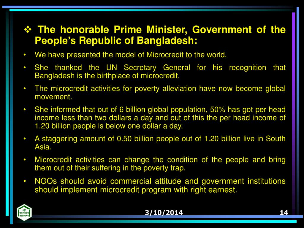 The honorable Prime Minister, Government of the Peoples Republic of Bangladesh: