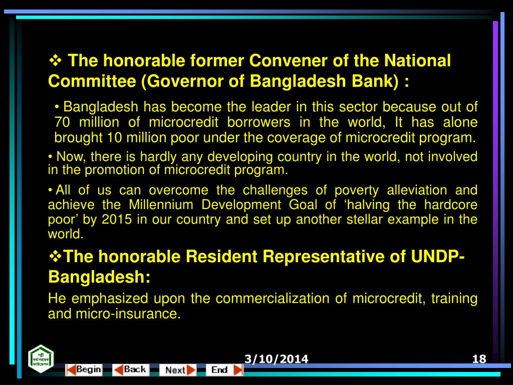 The honorable former Convener of the National Committee (Governor of Bangladesh Bank) :
