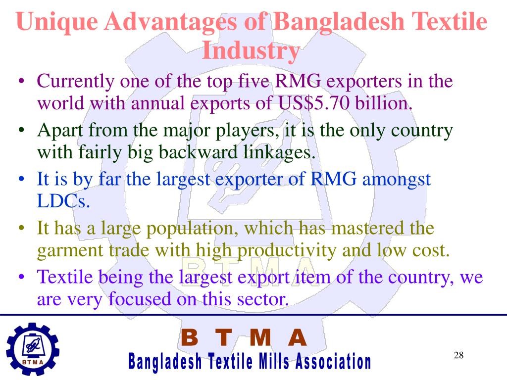 Unique Advantages of Bangladesh Textile Industry