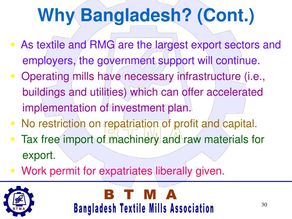 Why Bangladesh? (Cont.)
