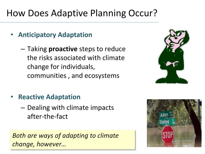 How Does Adaptive Planning Occur?
