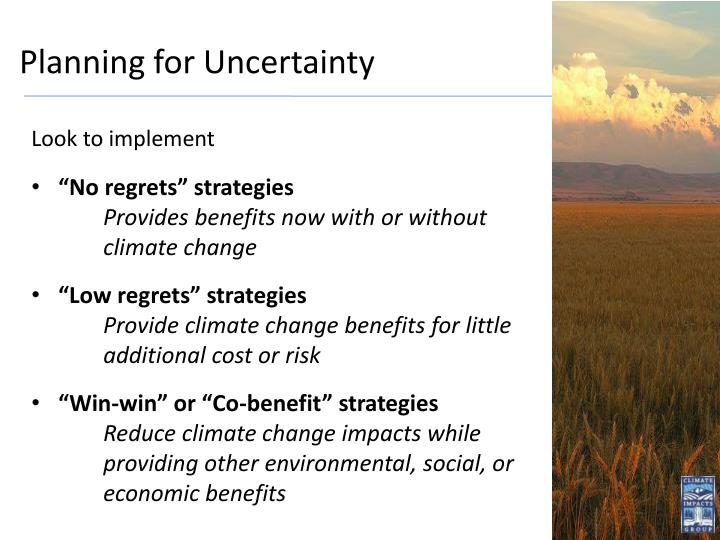 Planning for Uncertainty