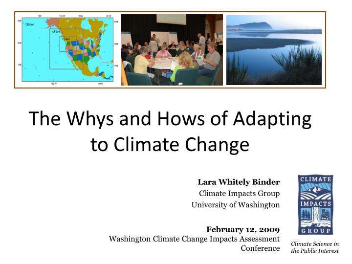 The whys and hows of adapting to climate change