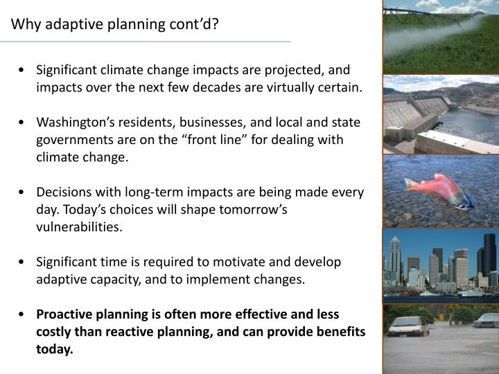 Why adaptive planning cont'd?