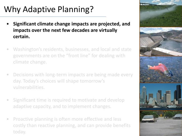 Why Adaptive Planning?