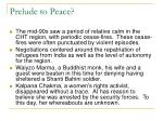 prelude to peace