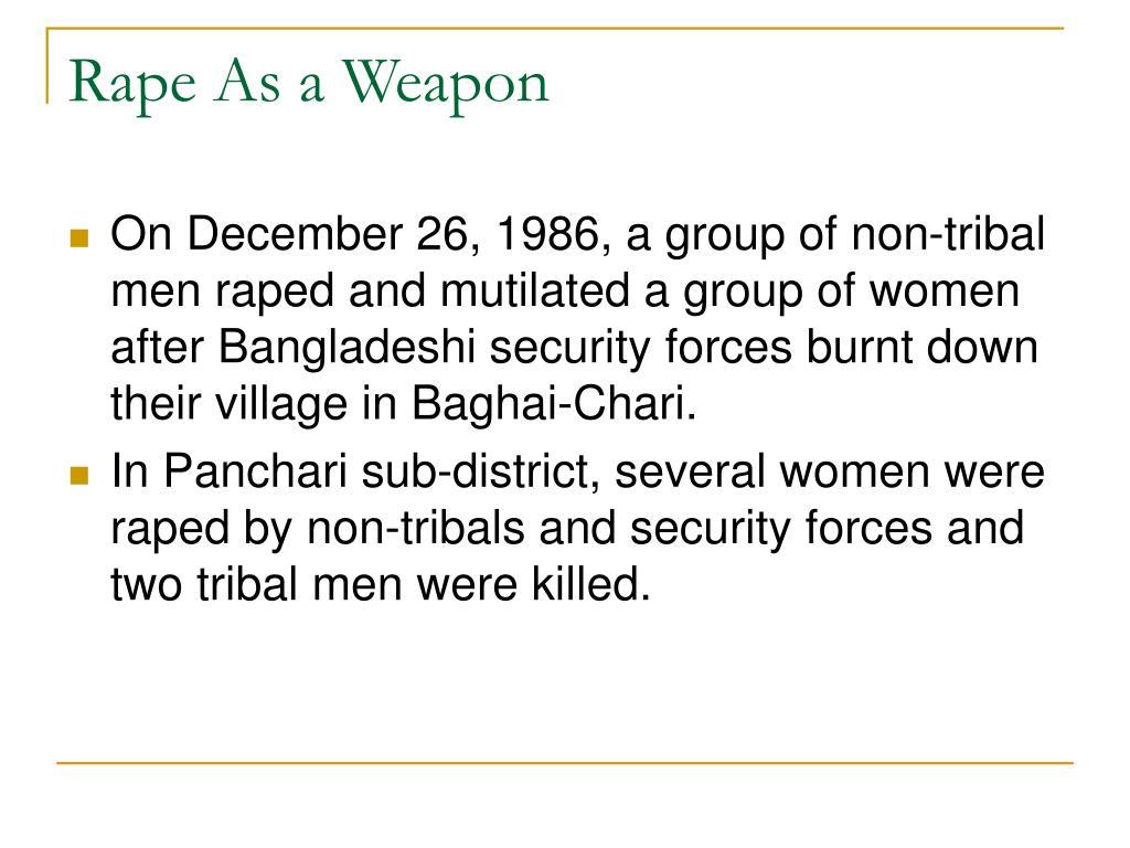 Rape As a Weapon