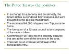 the peace treaty the positives