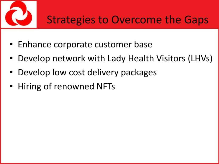 Strategies to Overcome the Gaps