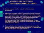 aere nuclear safety and safeguards committee nssc