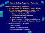 nuclear safety regulatory authority
