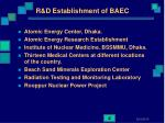 r d establishment of baec