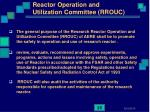 reactor operation and utilization committee rrouc