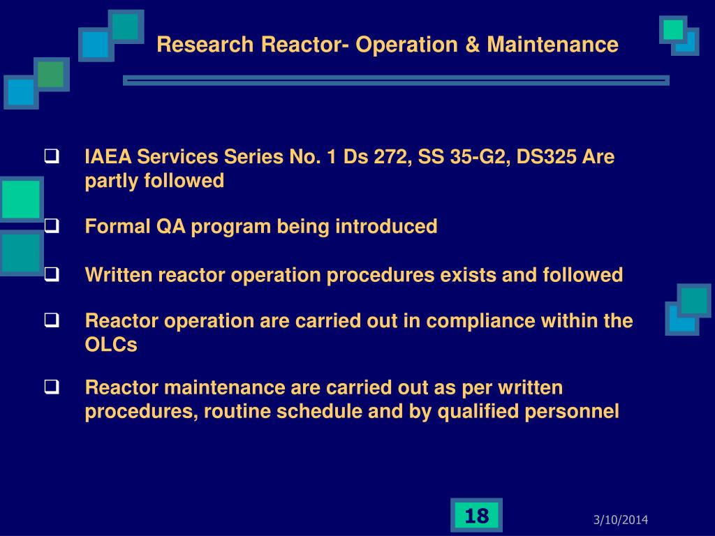 Research Reactor- Operation & Maintenance