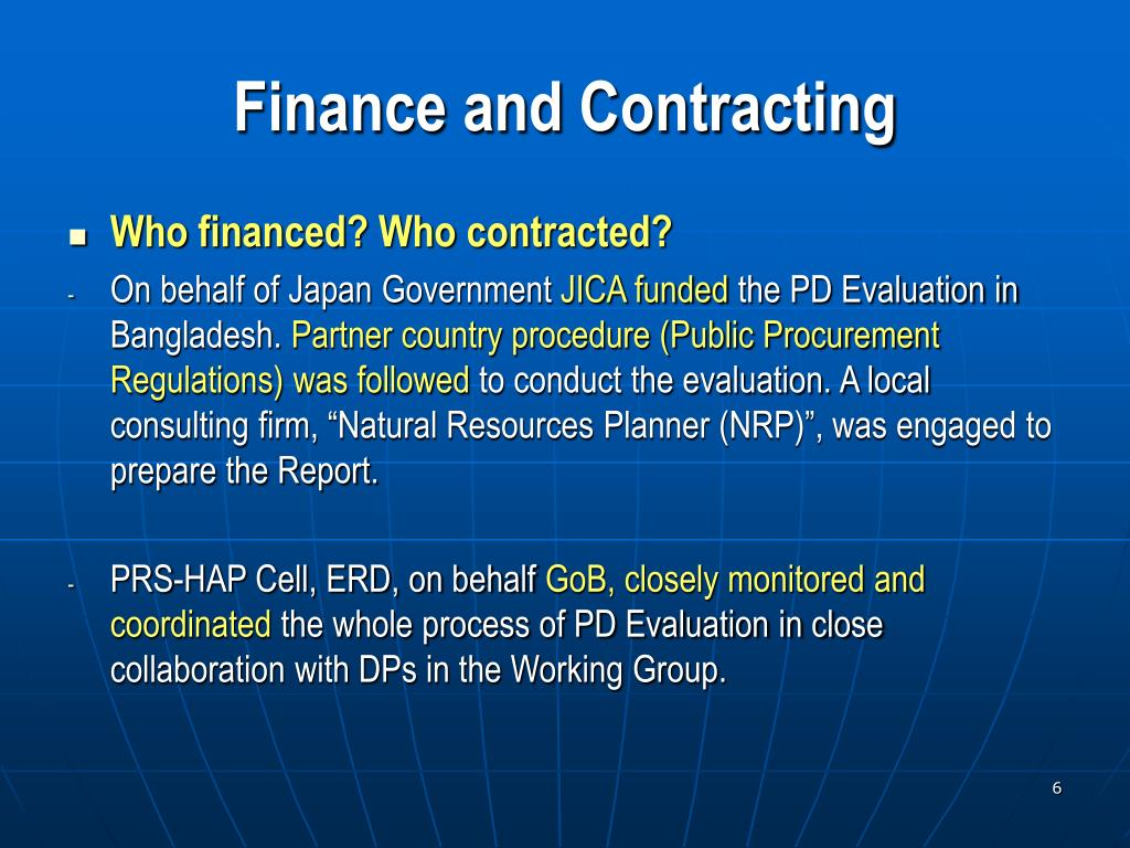 Finance and Contracting
