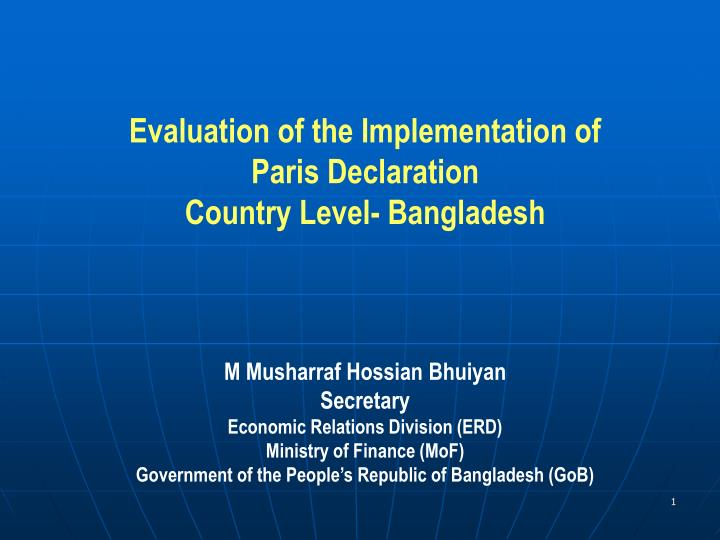 Evaluation of the Implementation of