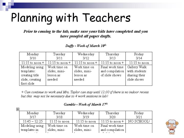 Planning with Teachers