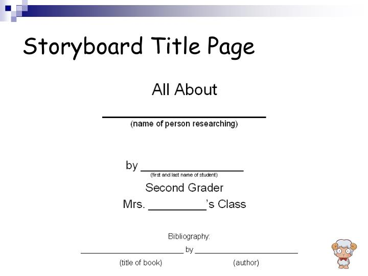 Storyboard Title Page