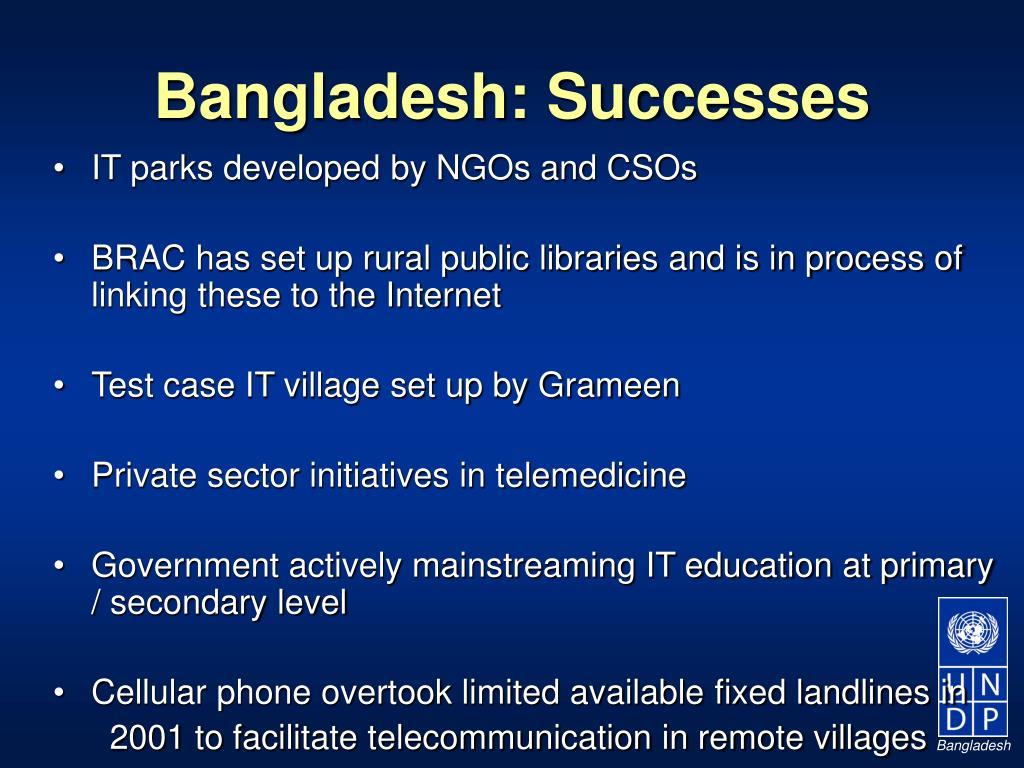 Bangladesh: Successes