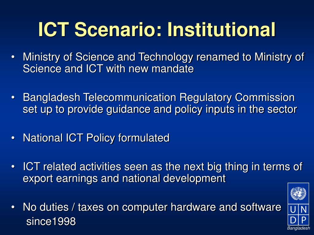 ICT Scenario: Institutional