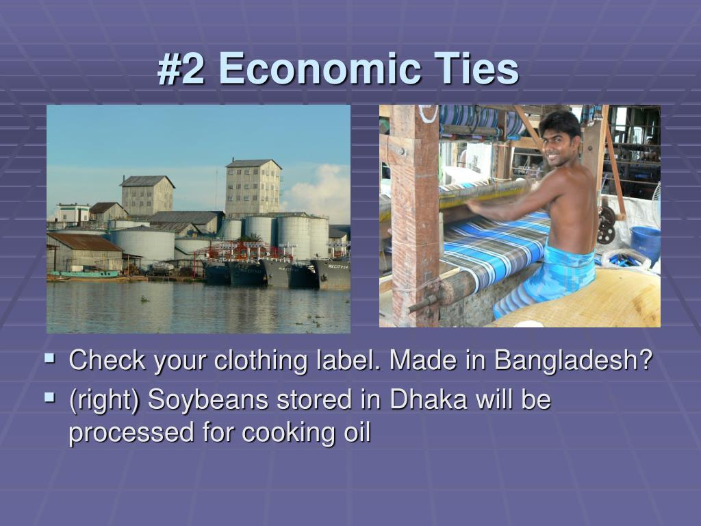 #2 Economic Ties