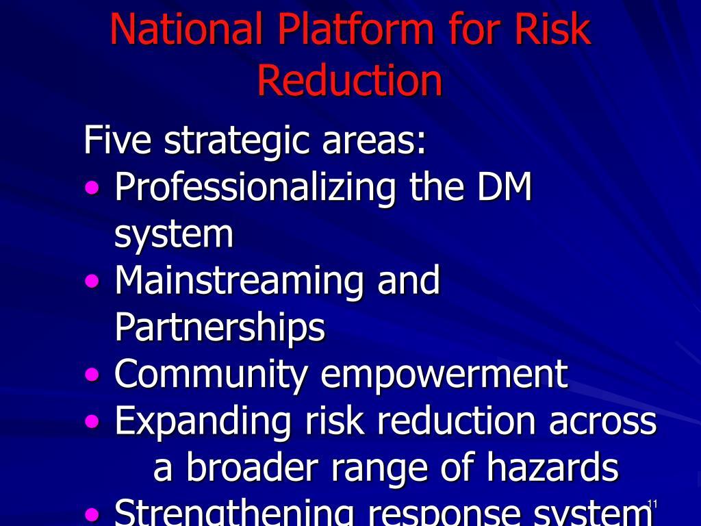 National Platform for Risk Reduction