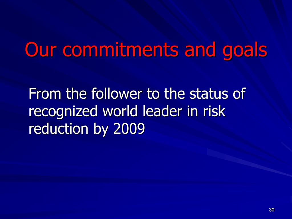 Our commitments and goals