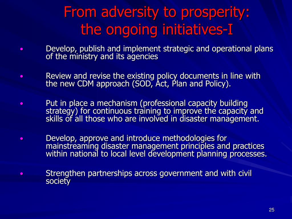 From adversity to prosperity: