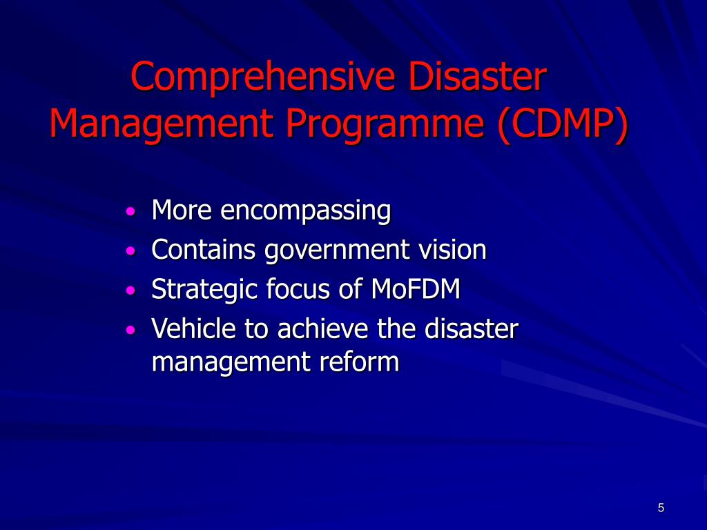 Comprehensive Disaster Management Programme (CDMP)