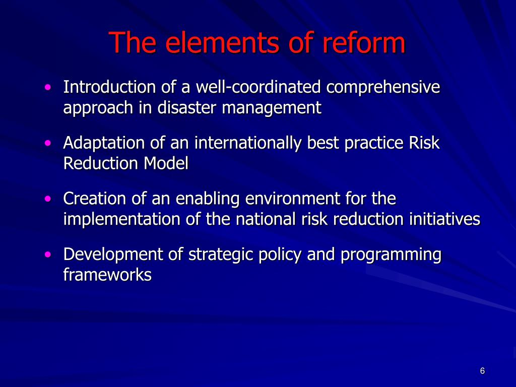 The elements of reform