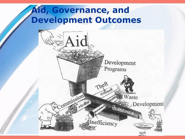 Aid governance and development outcomes